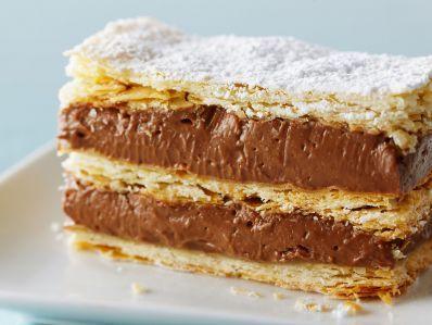 Receta | Milhojas francés de chocolate a la avellana (Chocolate hazelnut Napoleon) - canalcocina.es