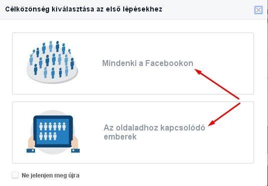 facebook célközönség optimalizálás