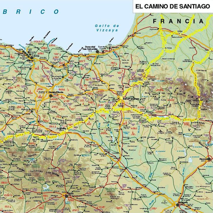 23 best Camino de Santiago Maps images on Pinterest Driveways