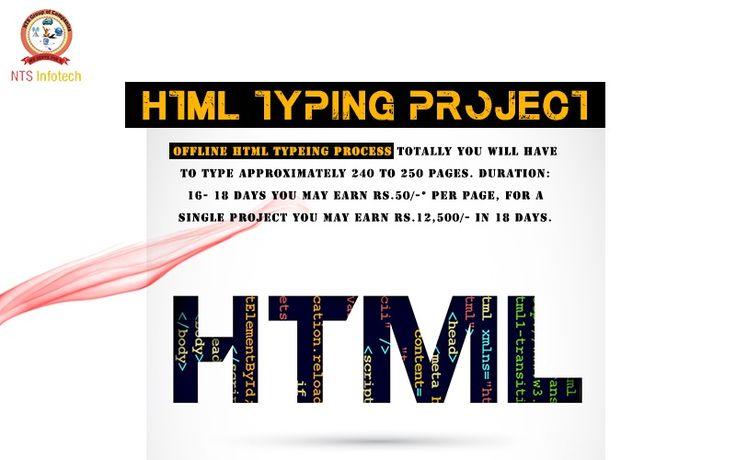 HTML typing project.Please visit us- www.ntsinfotechindia.com