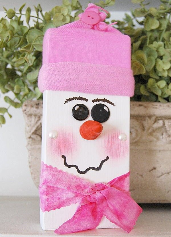 2x4 projects, wood, snow, winter, snowmen, snowman, colorful, handmade, homemade, diy, paint, clay, blocks, decor, home decor