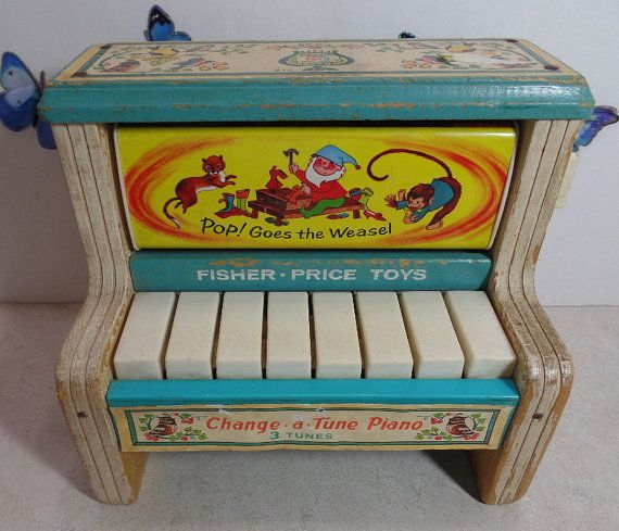 Fisher Price Change a Tune piano.  This by PreciousMemoriesOne