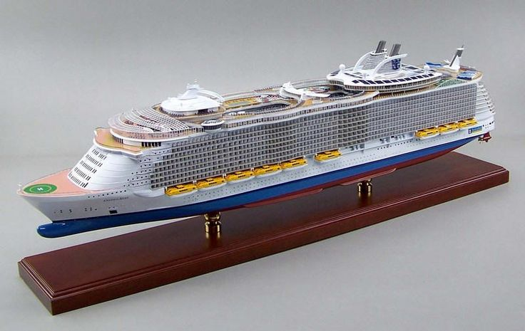 Click image for a larger view! - Majesty of the Seas - Royal Carribean - Cruise Ship - Custom Mahogany Ship Model