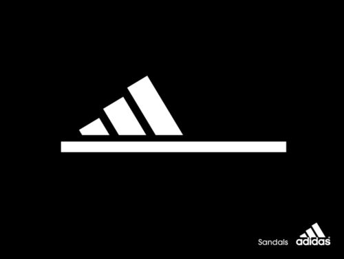 Brilliant minimalist print ad for adidas Sandals.Does anyone know who made it?