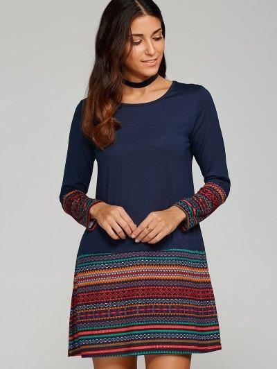 Impreso tribal del ajuste de la camiseta del vestido