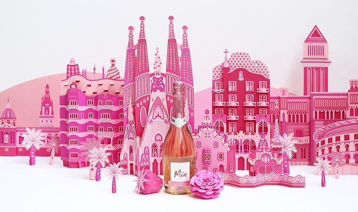 Бумажная архитектура Барселоны использована в рекламе :: Статьи
