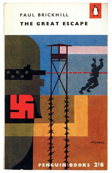 Penguin covers: The Great Escape by Paul Brickhill, 1957.