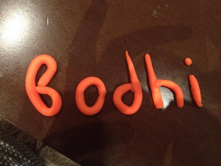 Writing with play dough. (Bodhi- my beautiful niece)