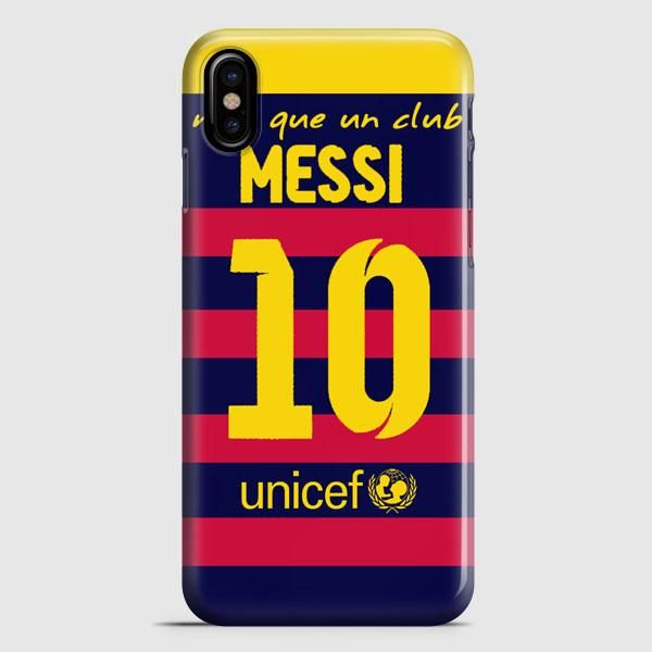 Lionel Messi Fc Barcelona Jersey iPhone X Case
