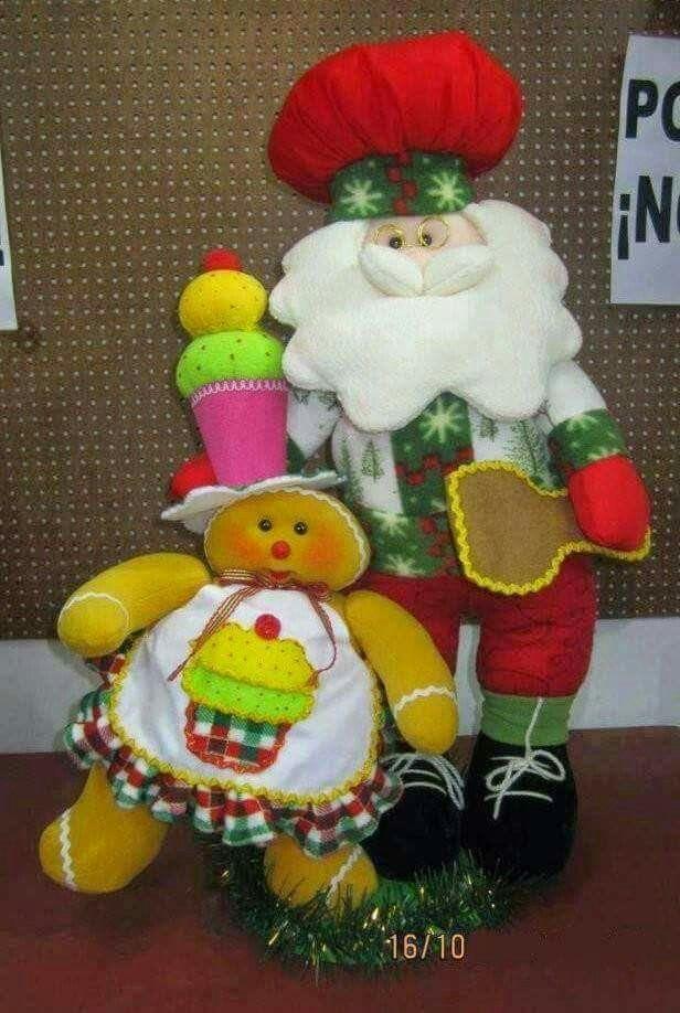 Santa con galleta SG1