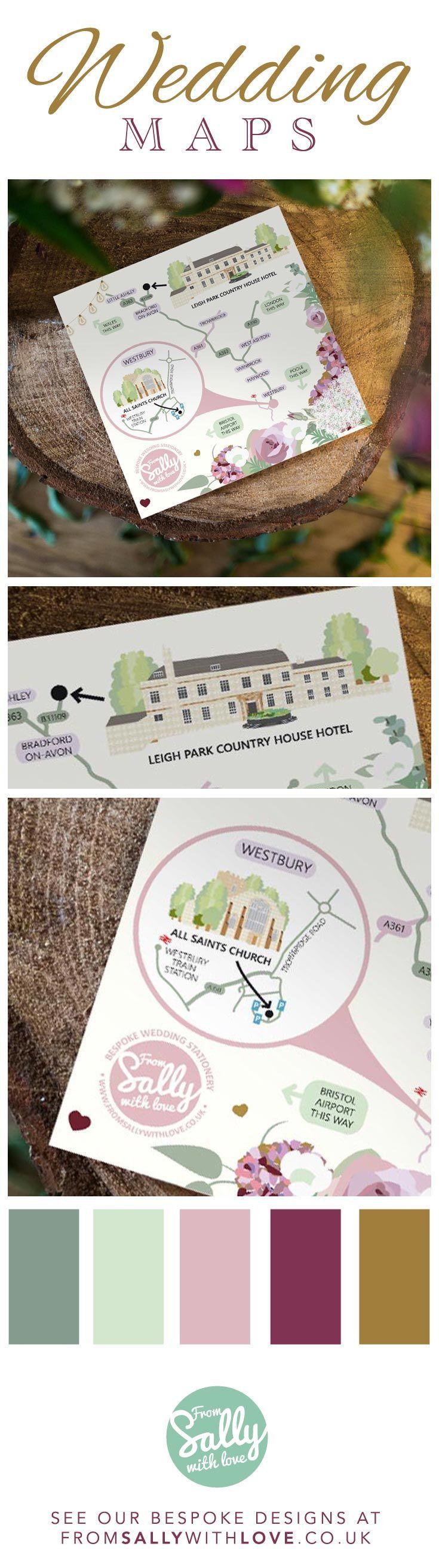22 best Bespoke Wedding Maps - Wedding Stationery images on ...
