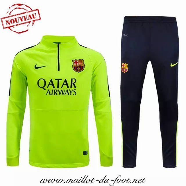 boutique de Nouveau Survetement de foot FC Barcelone Vert 2015 2016 en gros