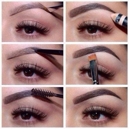 макияж, брови