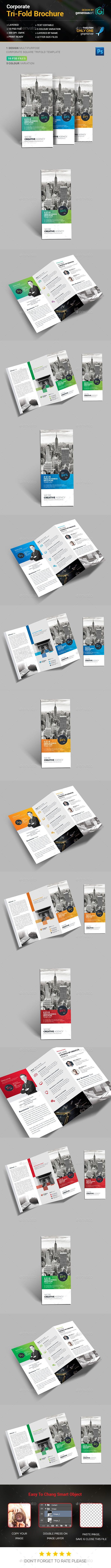 Tri-Fold Brochure Template PSD #design Download: http://graphicriver.net/item/trifold-brochure/14036264?ref=ksioks