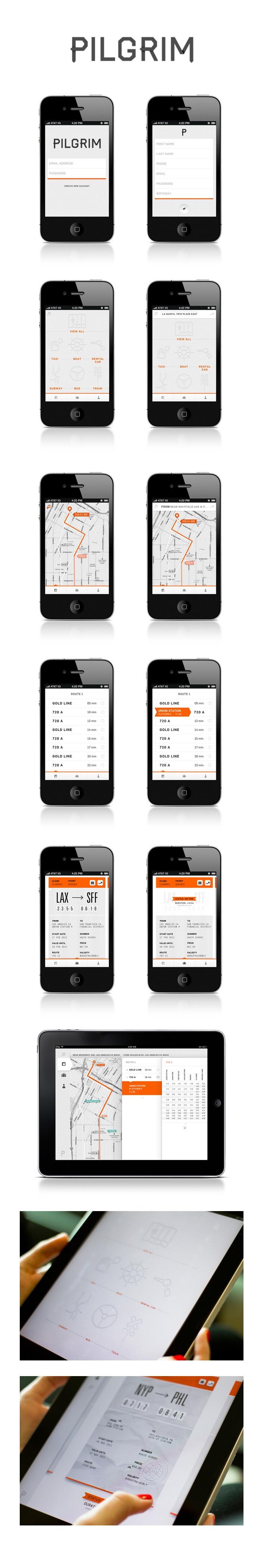 Pilgrim App | Designer: Nicole Gavrilles