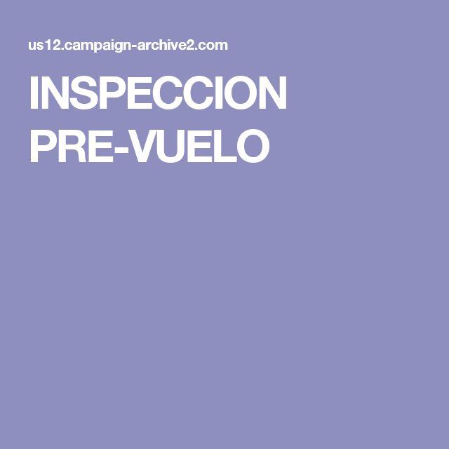INSPECCION PRE-VUELO