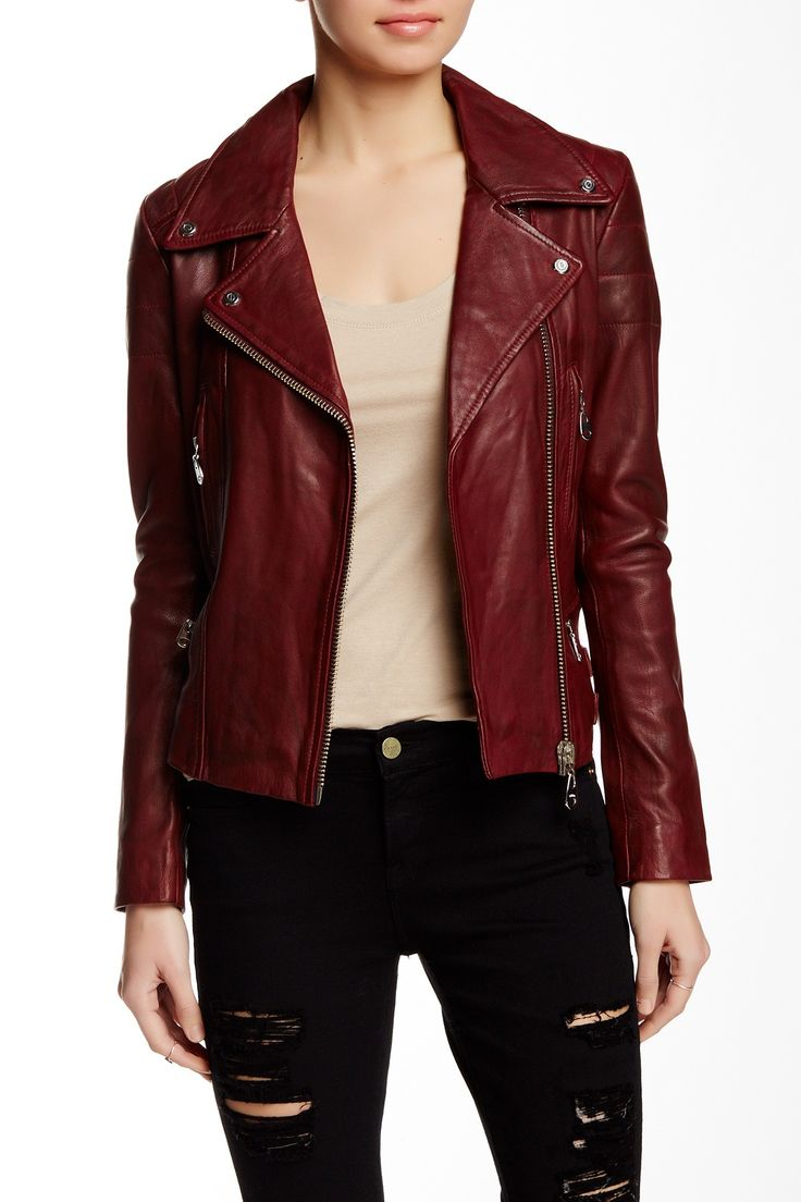 Washed Heavy Genuine Leather Jacket by Doma on @HauteLook