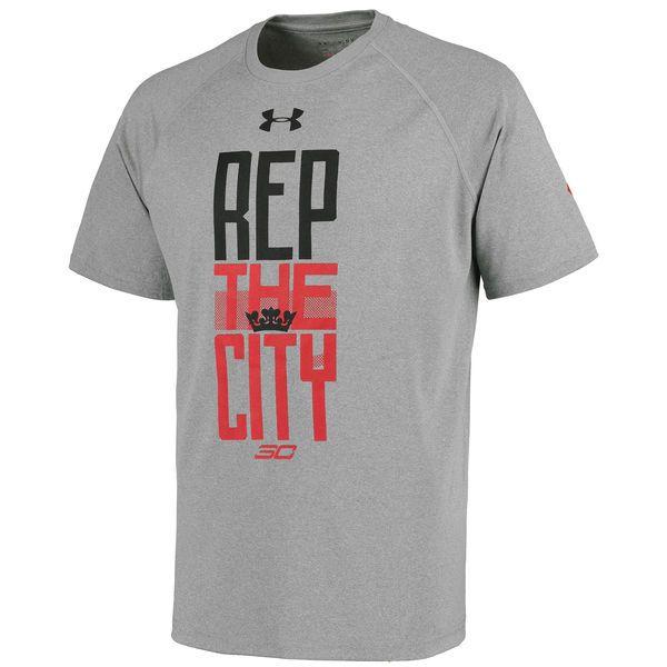 Stephen Curry Davidson Wildcats Under Armour Tech Performance T-Shirt - Gray - $34.99