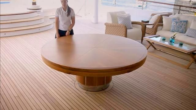 The incredible transforming Fletcher Capstan Table. AMAZING!!  there is even an automated one!