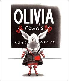 An Olivia book for learning numbers/counting!