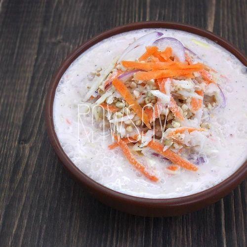 Суп из капусты с зеленой гречкой - Сыроедение, рецепты и диеты - Rawsay