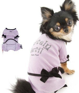 LOVELY VIOLET DOG JUMPSUITS