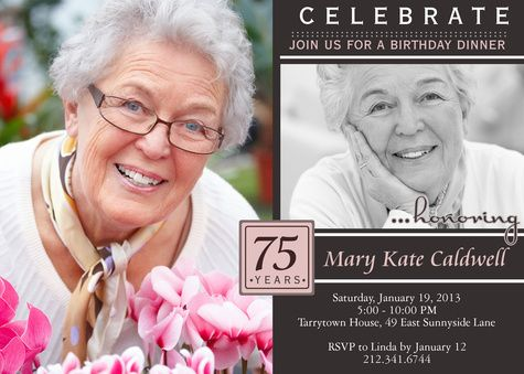 best 25+ 75th birthday invitations ideas on pinterest | 70th, Birthday invitations