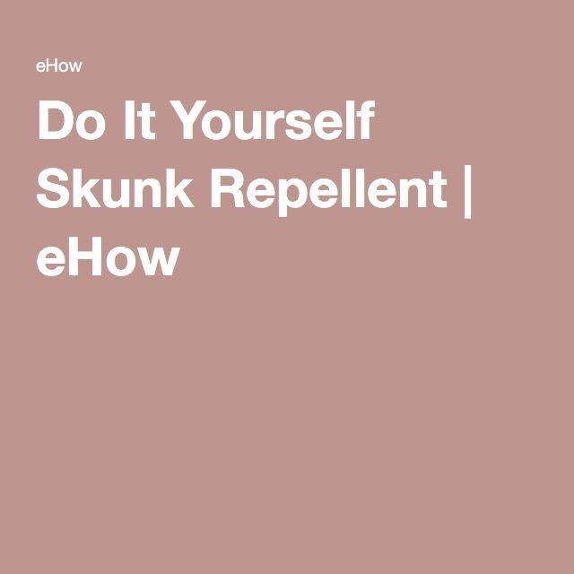 Do It Yourself Skunk Repellent | eHow