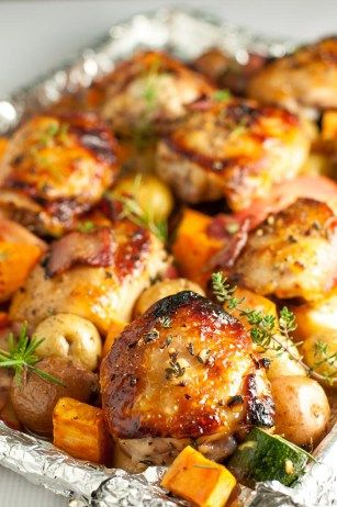 Sheet Pan Chicken and Roasted Harvest Vegetables - Flavour and Savour