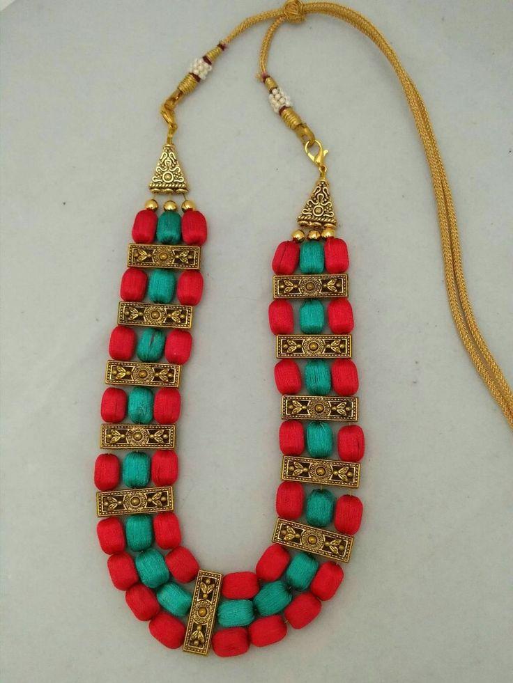 neck piece silk thread