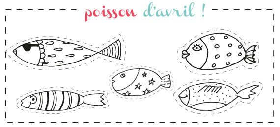 Poisson d 39 avril teaching fish word search - Dessin poisson d avril rigolo ...