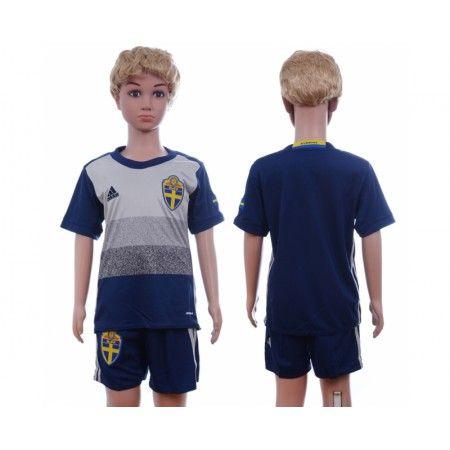 #Sverige Trøje Børn 2016 Udebanetrøje Kort ærmer.199,62KR.shirtshopservice@gmail.com