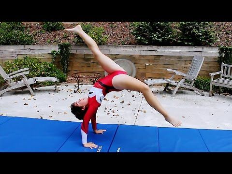 Beginner Gymnastics: Bridge Kickover - YouTube