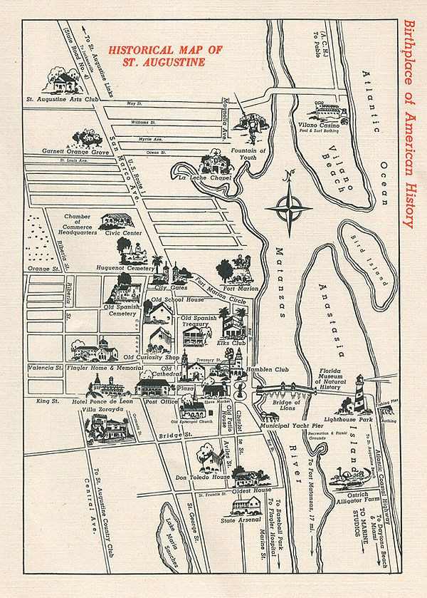 Historical Map of St Augustine