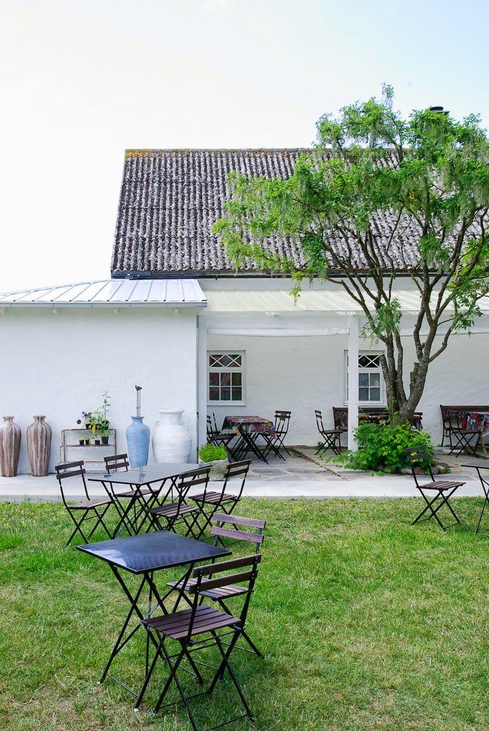garden, scandinavian house, gotland, white house, summer paradise