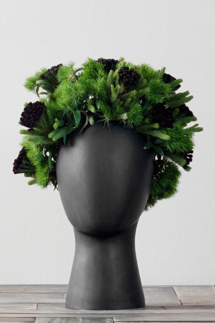 Head Shaped Flower Vase In 2020 Flower Vases Ceramic Flowers Head Shapes