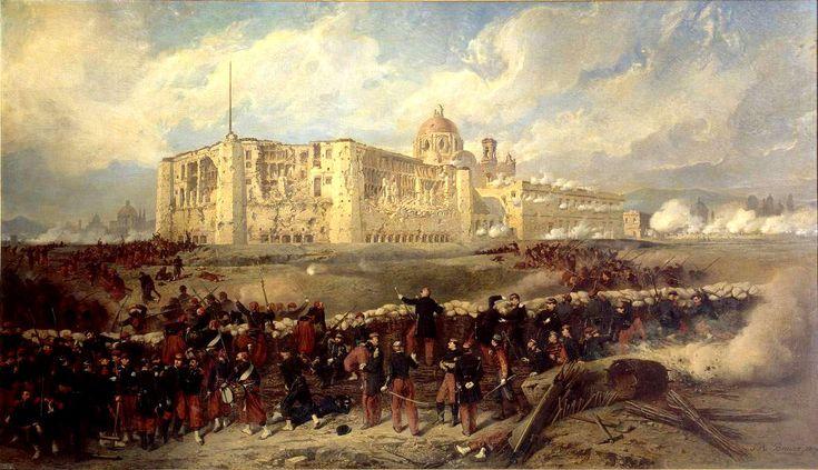 Au Mexique, après une violente guerre civile, le libéral Benitó Juarez l'emporta sur les conservateurs. Il prit des mesures contre le clergé, suspendit le paiement des intérêts de la Dette. La France, l'Angleterre et l'Espagne décidèrent une intervention. Des corps expéditionnaires de ces trois pays débarquèrent en 1861. Mais dès 1862, l'Angleterre et l'Espagne retirèrent leurs troupes. Napoléon III donna l'ordre de marcher sur Mexico. Il s'agissait de faire du Mexique un pays d'influence…