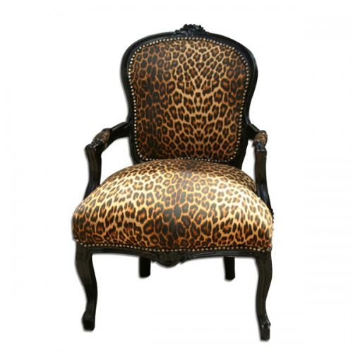 Animal Print Chair. I think from England.  Buy and reupholster my own chair or get this one? Hmm