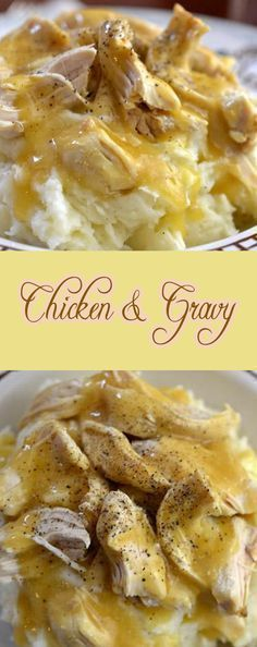 1 pound (480 g) boneless and skinless chicken breasts2 packets (0.87 oz (25g) each)) dry chicken gravy mix10 3/4 oz (375g) can cream of chicken soup1 3/4 cups (430 ml) water1/8 teaspoon freshly ground black pepper