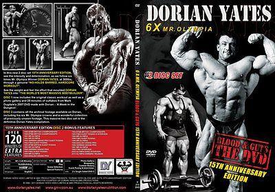 #Blood & guts 15th ann dorian #yates 2 disc gmv dvd  / 6 x mr #olympia bodybuildi,