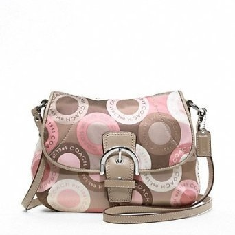 #mother's day gift idea  Coach Soho Snaphead Snap Head Flap Swingpack Messenger Bag Purse 46788 Pink Multi