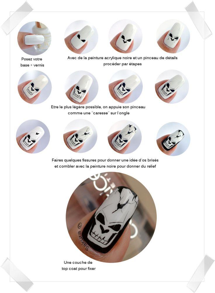 Nail Art Halloween - Skulls