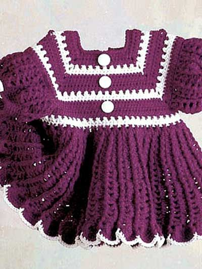 Crochet: Free Baby Dress Pattern.