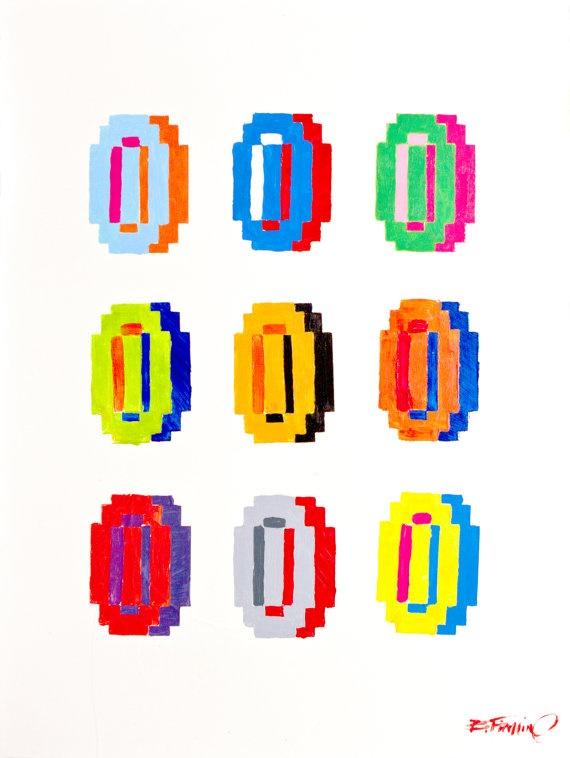 mario coins pop art