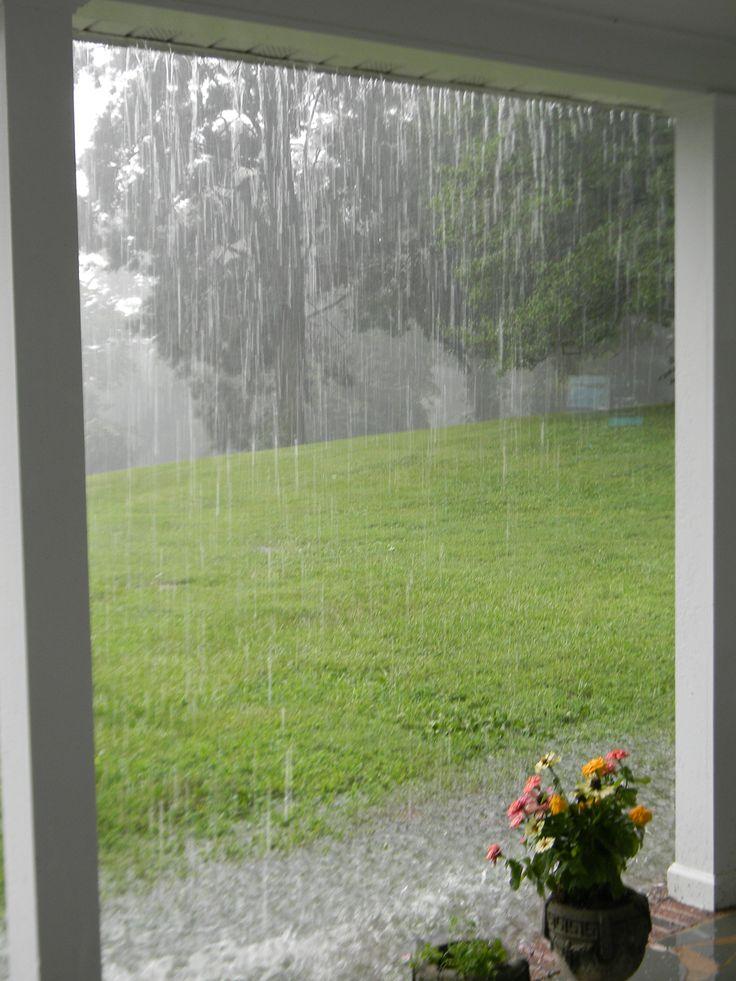 pouring down rain