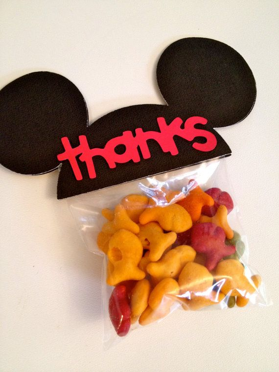 Mickey Mouse Ears Birthday Party Favors  by PicturePerfectParty, $20.00...these wouldn't be hard to make....
