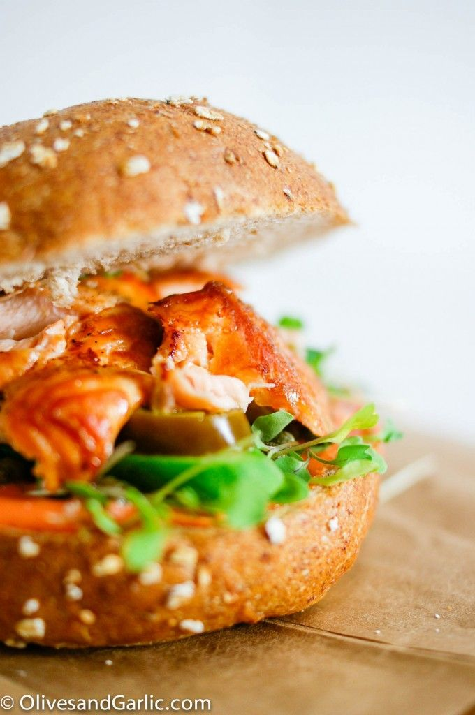 Grilled Salmon Sandwiches | Make me a sandwich! | Pinterest