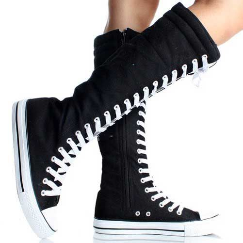 Lace up Knee High Converse