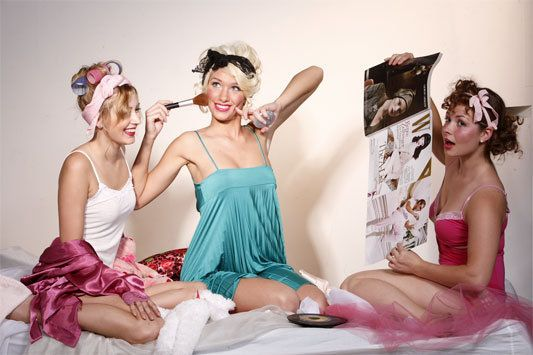 pin up style. slumber party!