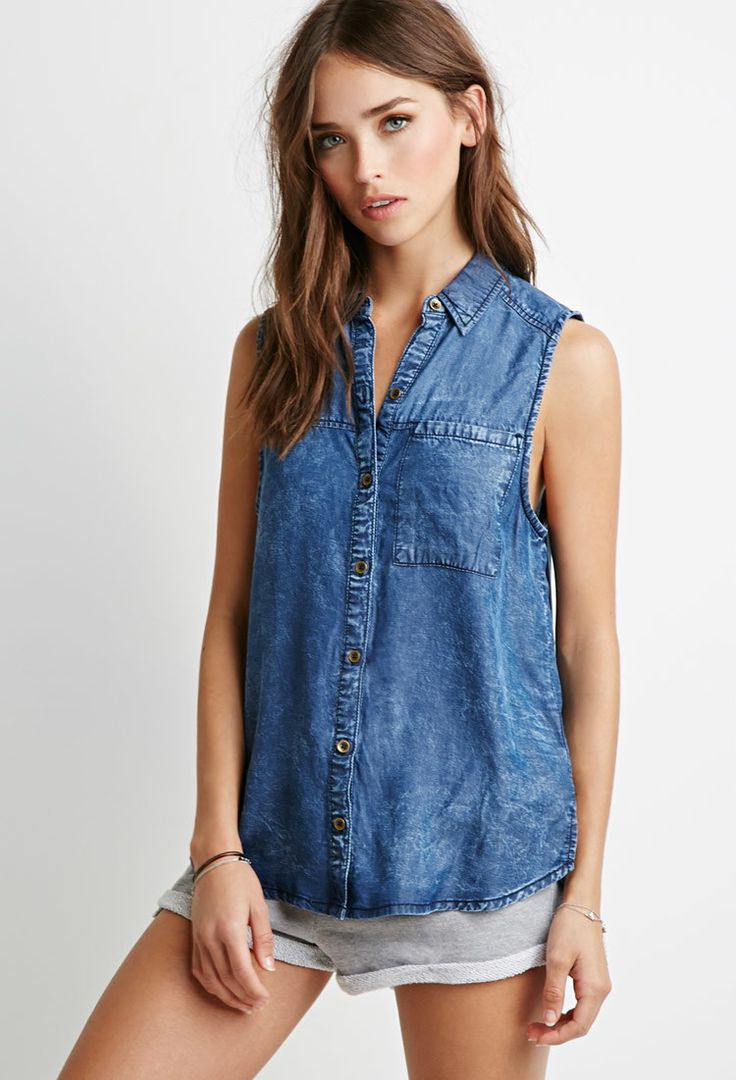 Classic Chambray Shirt | Forever 21 - 2000096428